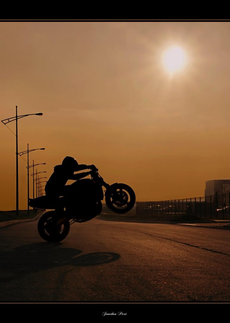 ...Le stunt...