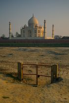 Le Taj Mahal à Agra, Uttar Pradesh.