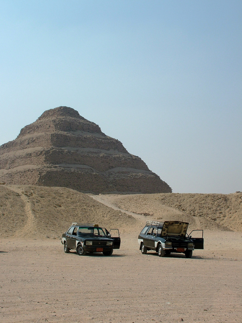 Le taxi de Djoser est avancé.