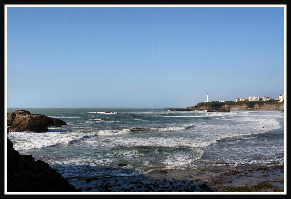 le temple du surf : la plage de BIAIRRITZ