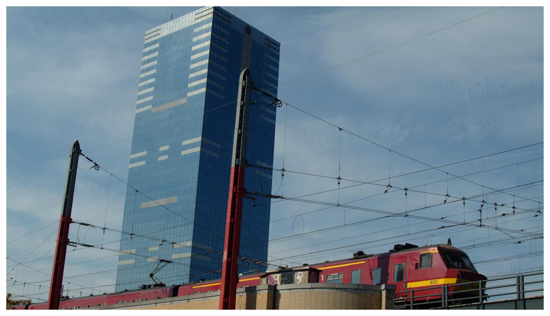 Le train arrive en gare