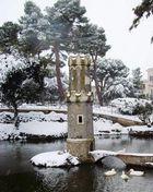 Le tre paperelle in un paesaggio invernale
