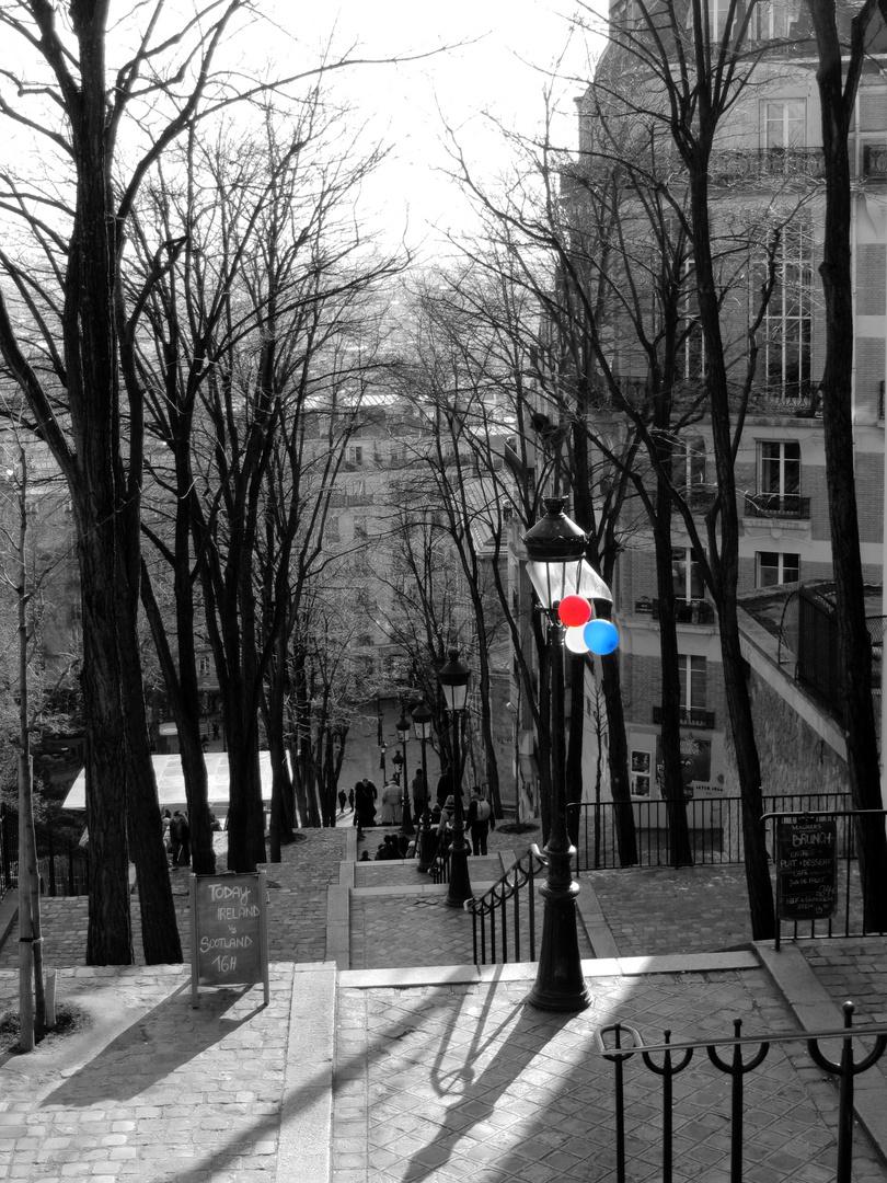 le tricolore à Montmartre