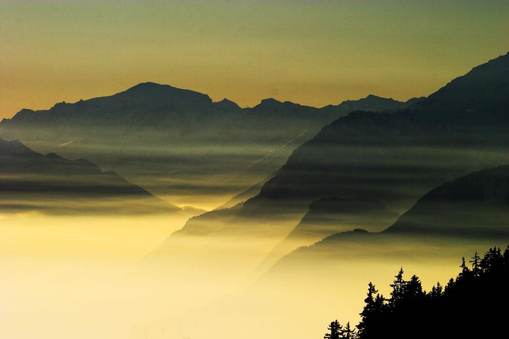 Le Valais vu depuis Crans-Montana