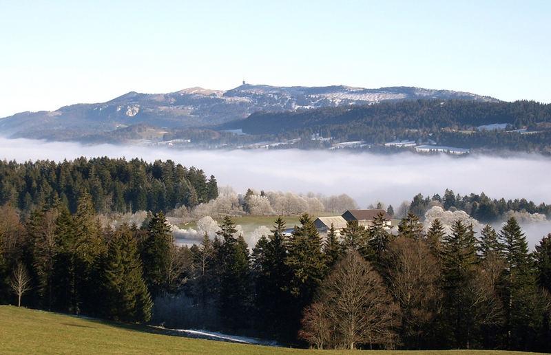 Le Vallon de Saint Imier en hiver