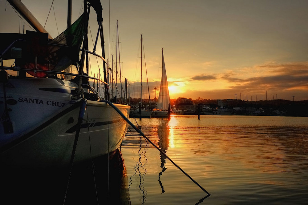 Le vele sul tramonto