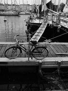 le vélo amarré