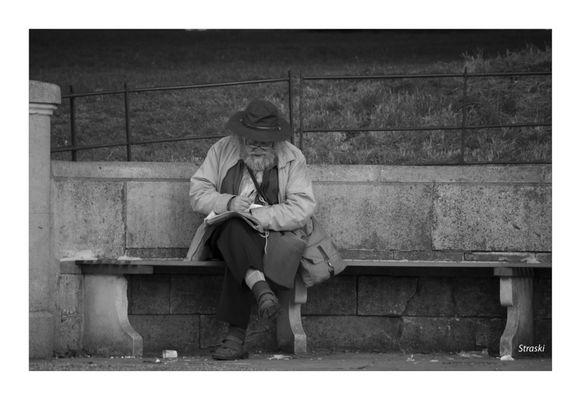 le vieil homme et le banc