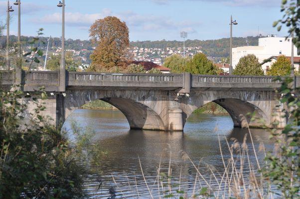 le vieux pont sur la Meurthe à Nancy