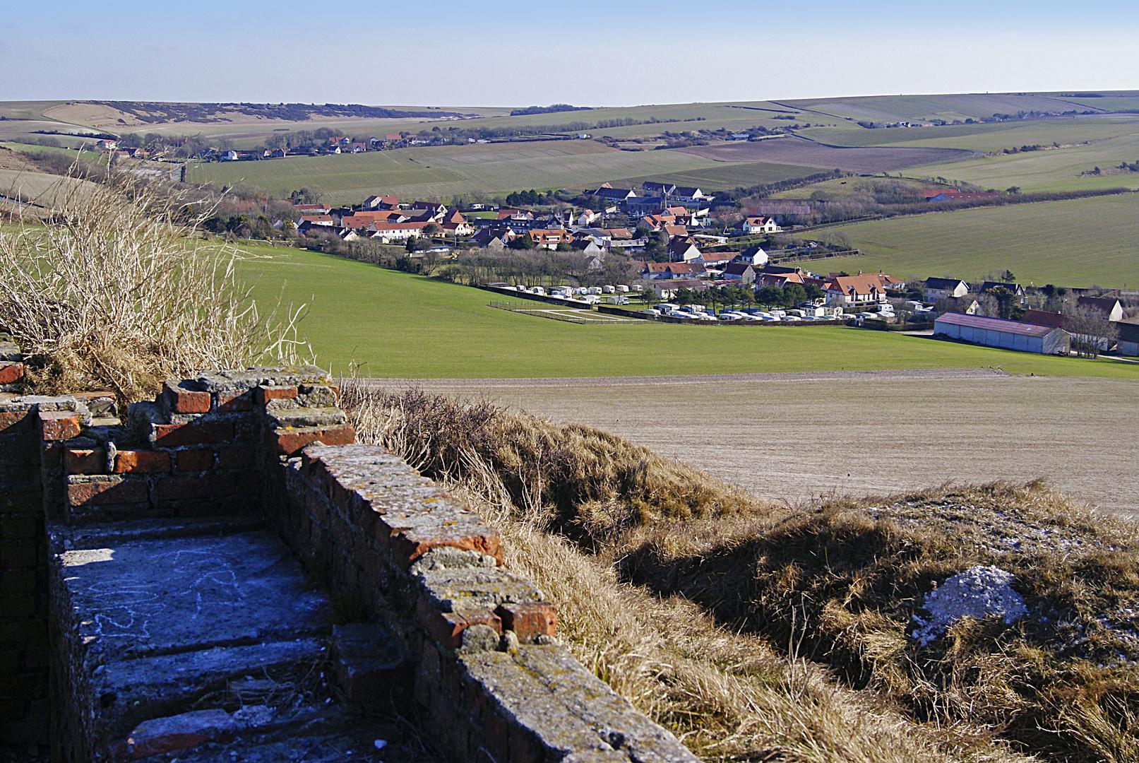 le village d'Etaples vue du Cap Blanc nez, Pas de Calais