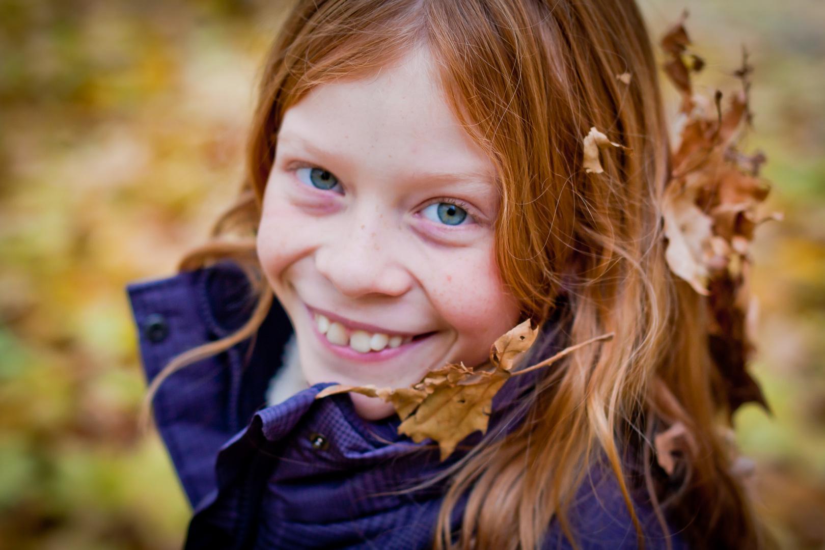 Lea personifiziert den schönen Herbst