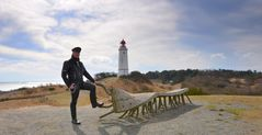 Leatherman am Leuchtturm