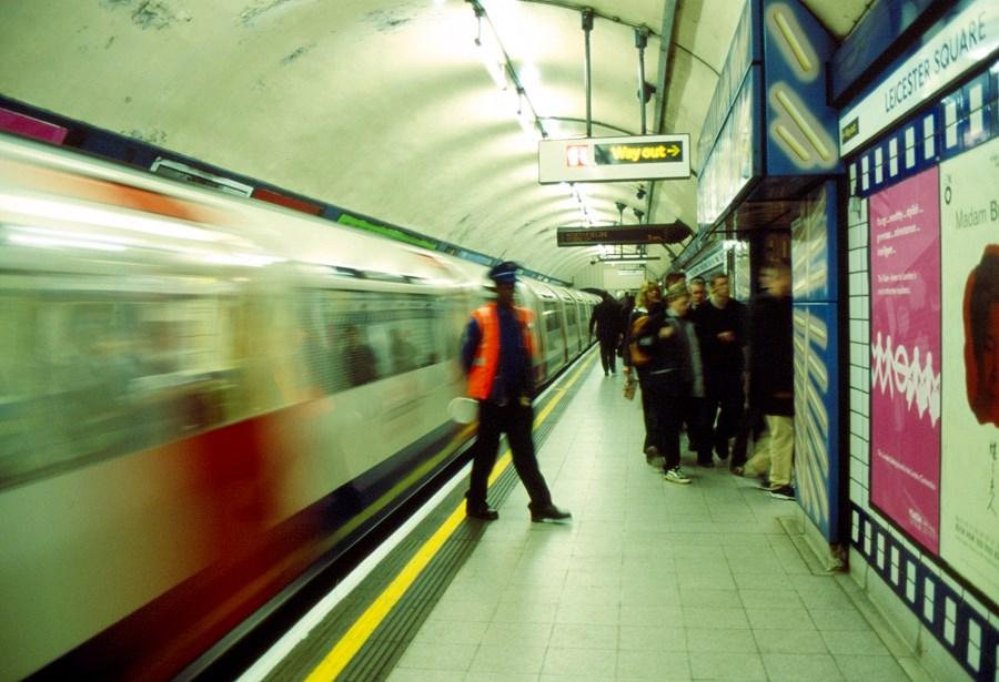 Leaving tube train