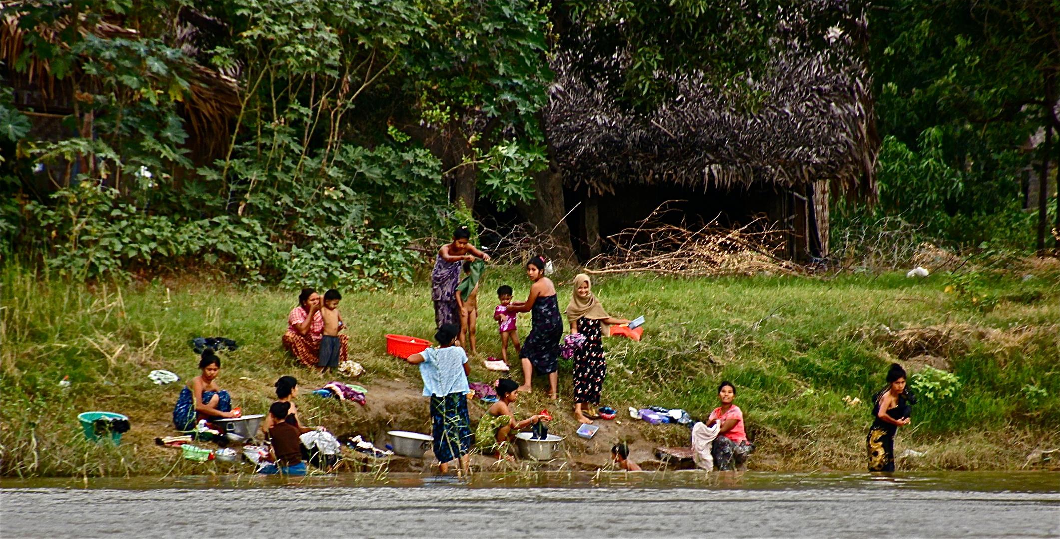 leben am irrawaddy , burma 2011