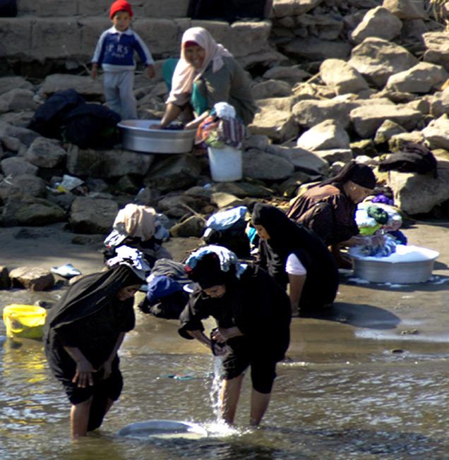 Leben am Nil - Waschtag (3)