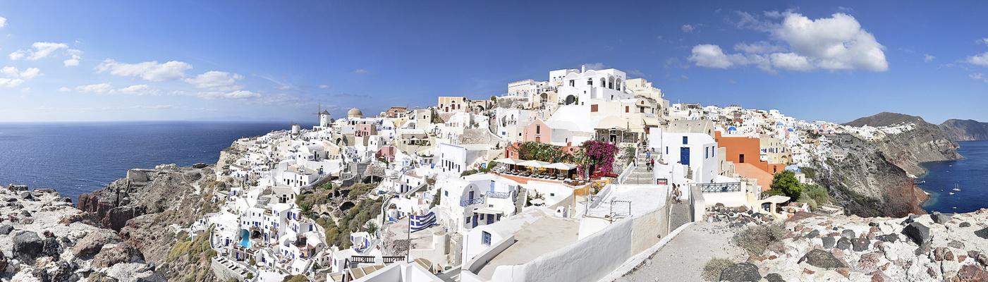 Leben auf der Insel Santorini