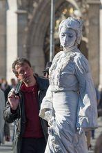 Lebende Statue in Weiß 02