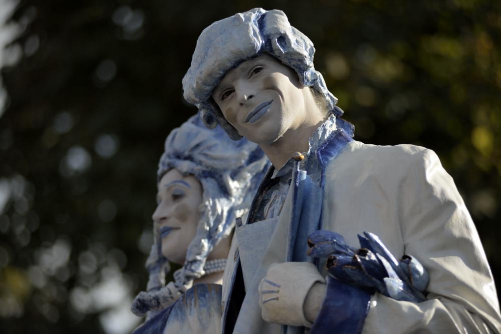 lebende Statuen in Arnheim