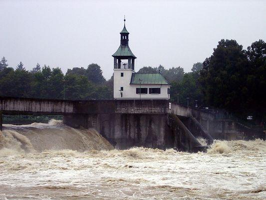 Lech-Hochwasser 2005 Hochablass Augsburg