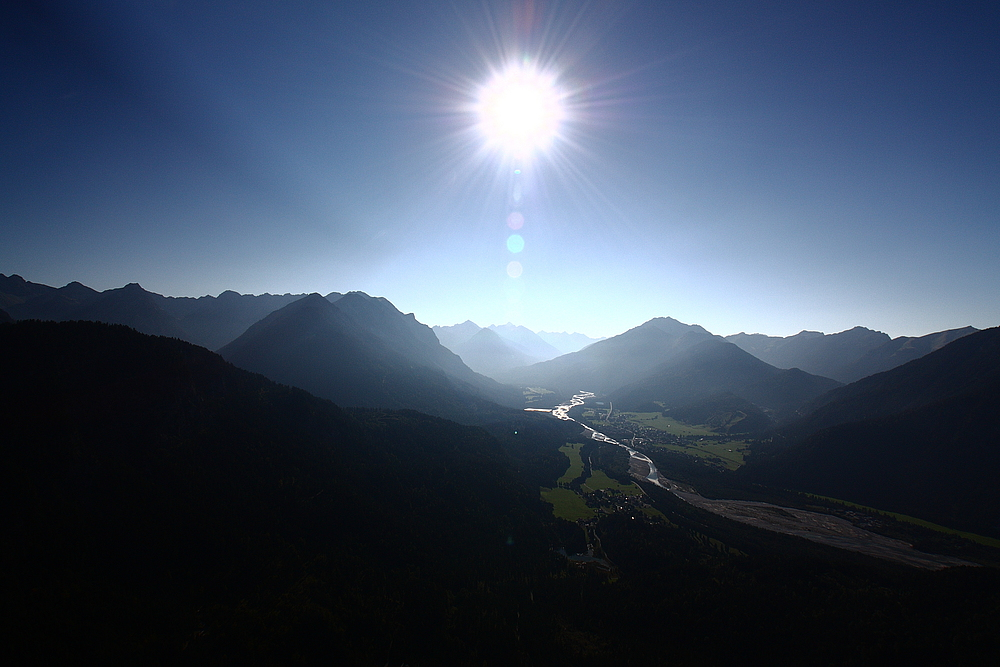 Lechtaler und Allgäuer Alpen  - aus der Luft aufgenommen