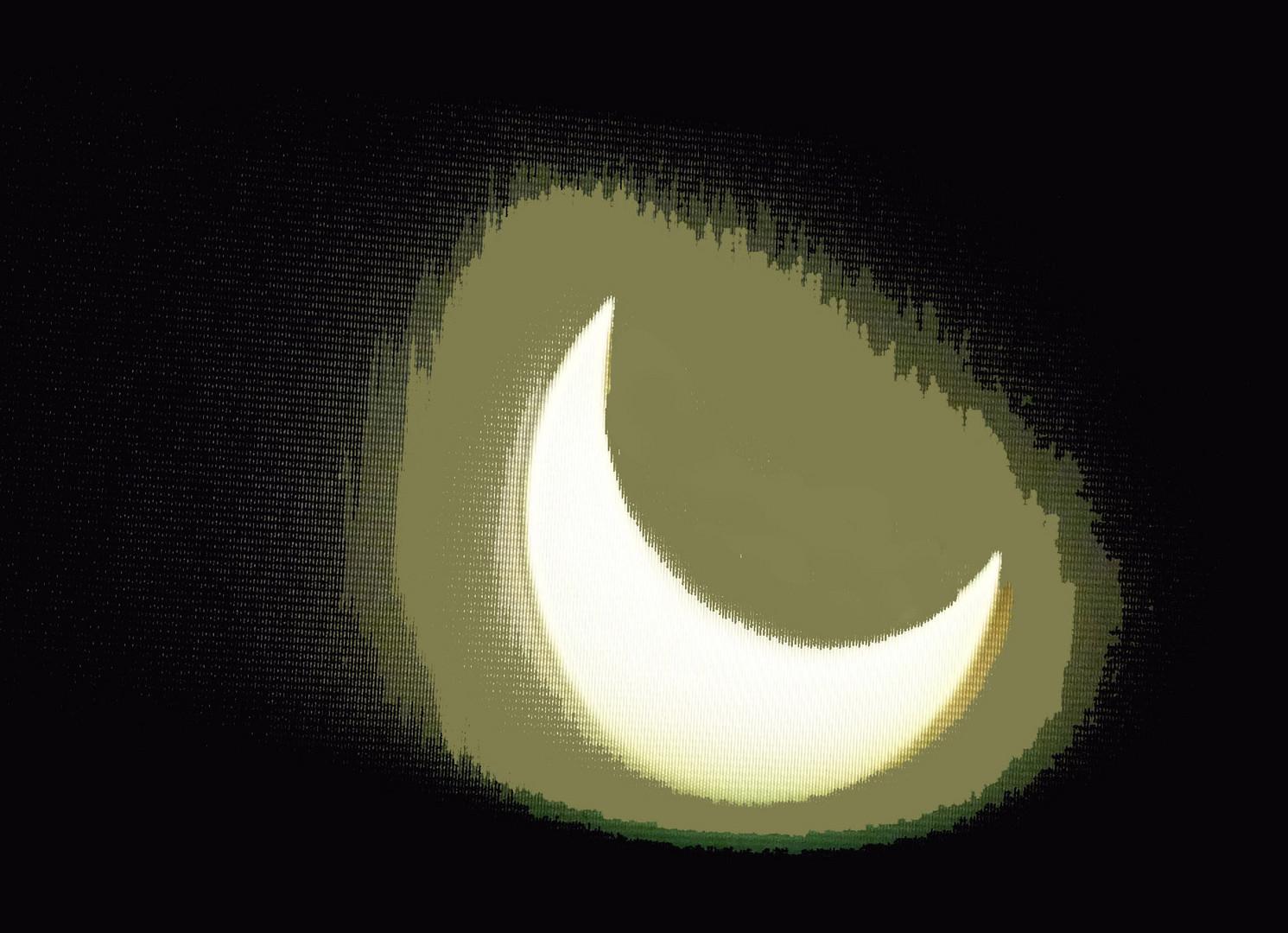 L'éclipse à la télé.
