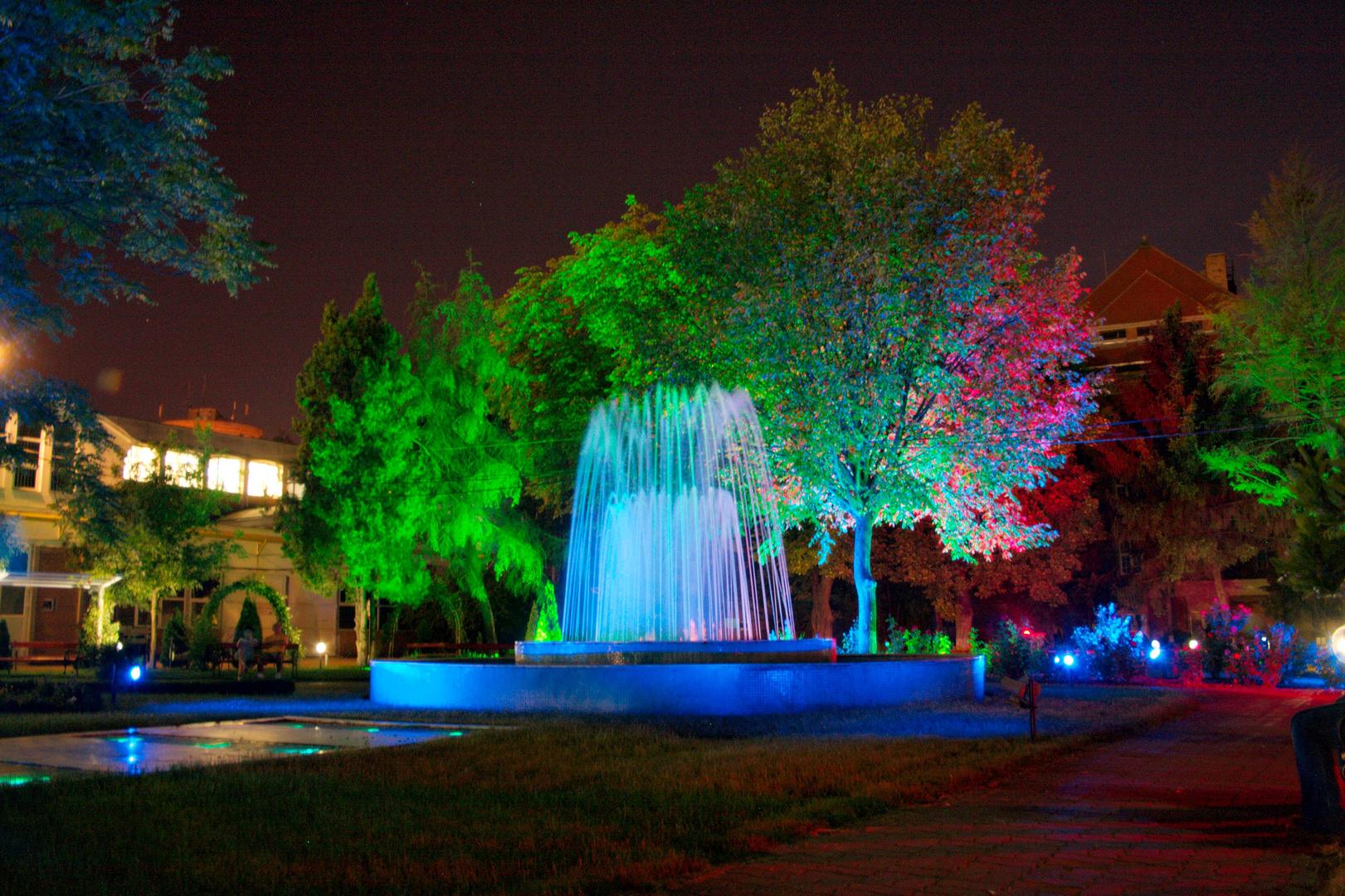 LED Reflektoren im Park neben der Uni (Timisoara)