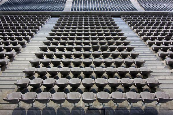 Leere Ränge in der Allianz Arena...
