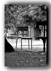 Leerer Stuhl im Park
