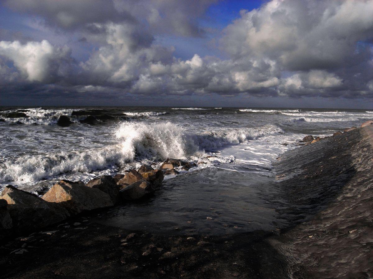 légère brise sur la côte