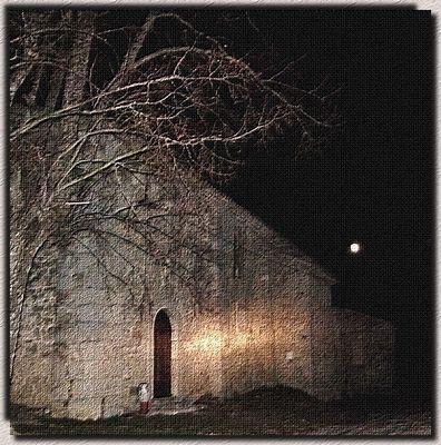 *l'église au clair de  lune*