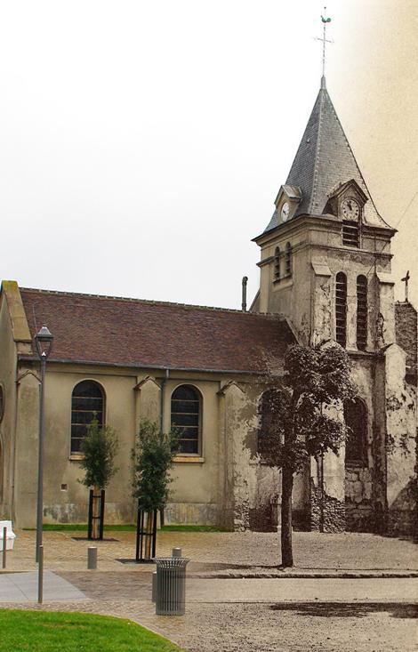 L'église Saint-Nicolas au Plessis-Bouchard...hier et aujourd'hui