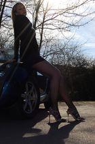 legs, heels, car