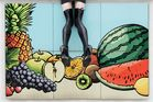 legs without girl, fruits