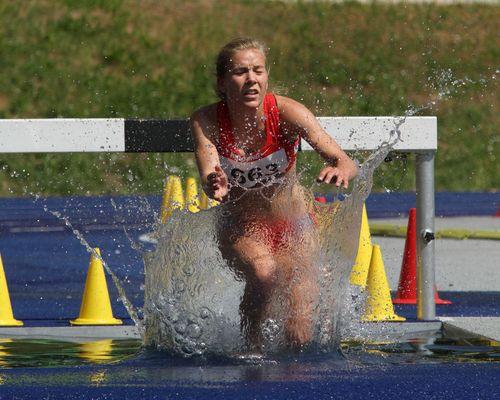 Leichtathletik- 3000m Hindernis der Frauen