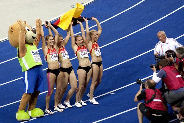 Leichtathletik WM 2009 in Berlin - Staffellauf der Damen