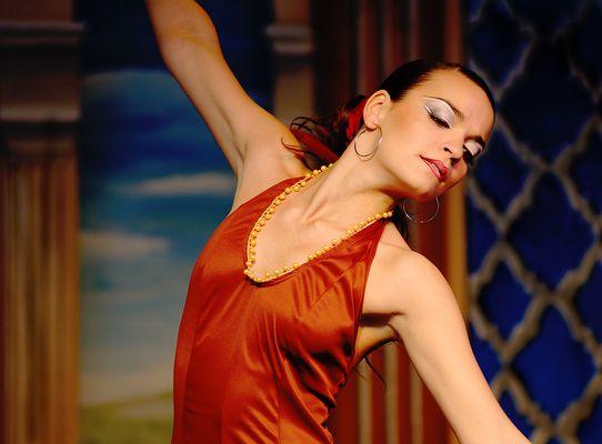 leidenschaftliche Flamenco-Tänzerin