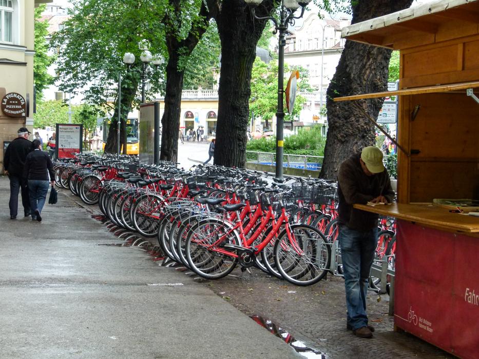 Leihfahrräder in Bozen