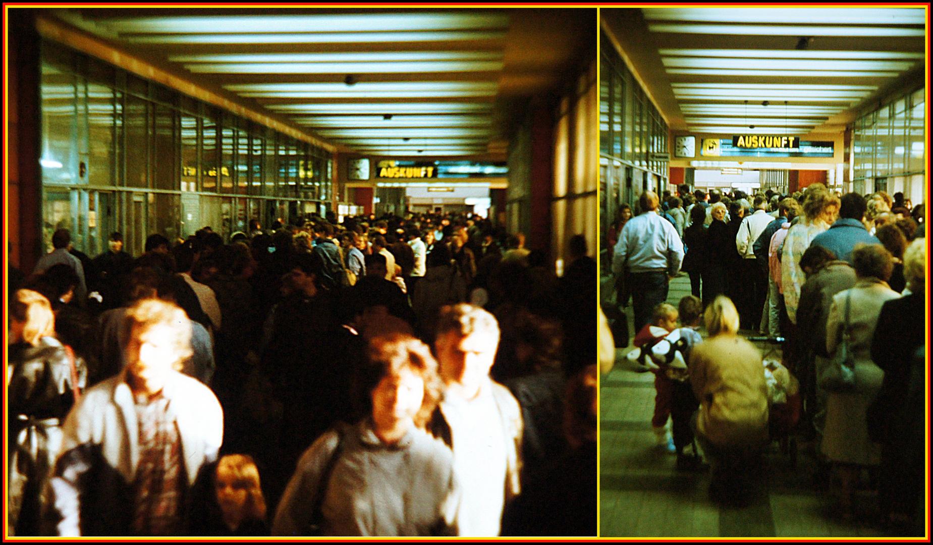 Leipzig, 10. November 1989: Fahrkarte kaufen