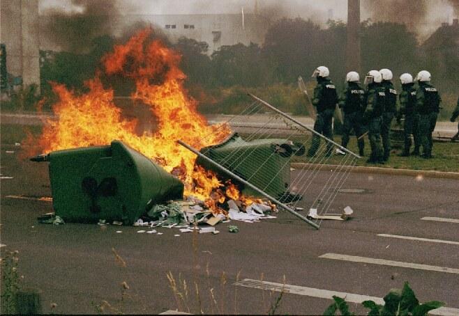 Leipzig 1.September - Auschreitungen am Rande einer Demo
