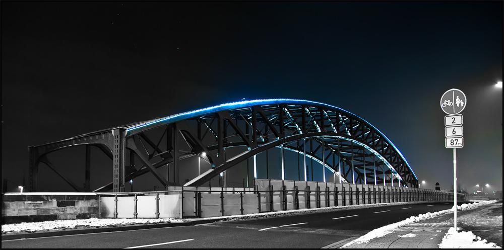 Leipzig bei Nacht S/W/B