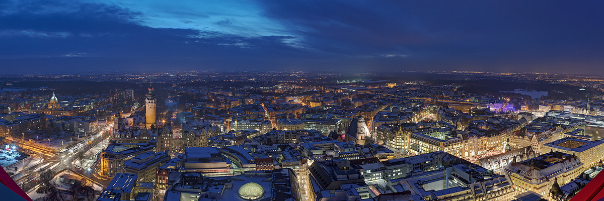 Leipzig City im Dezember