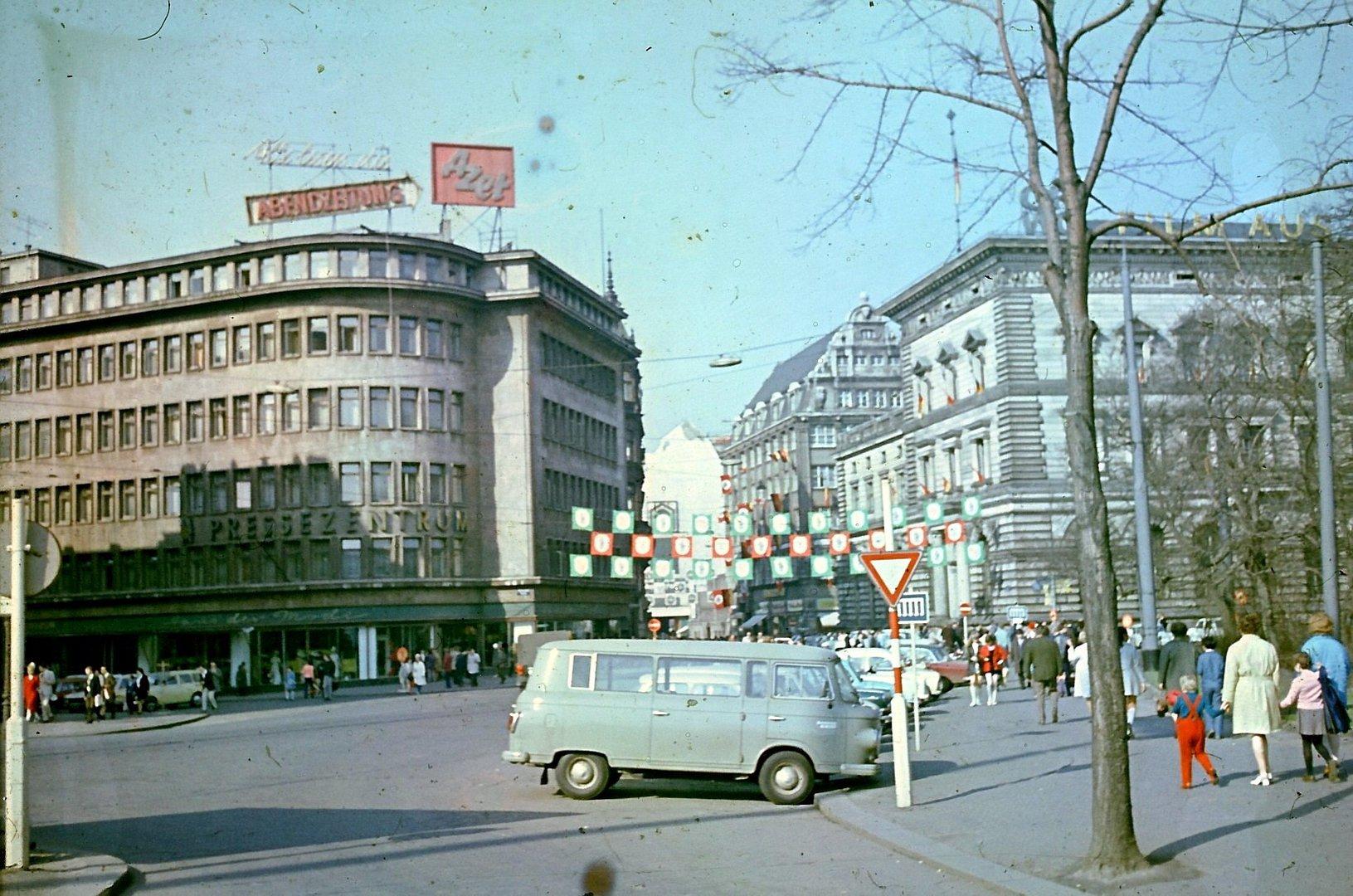 Leipzig in den 1980er oder 1970er Jahren