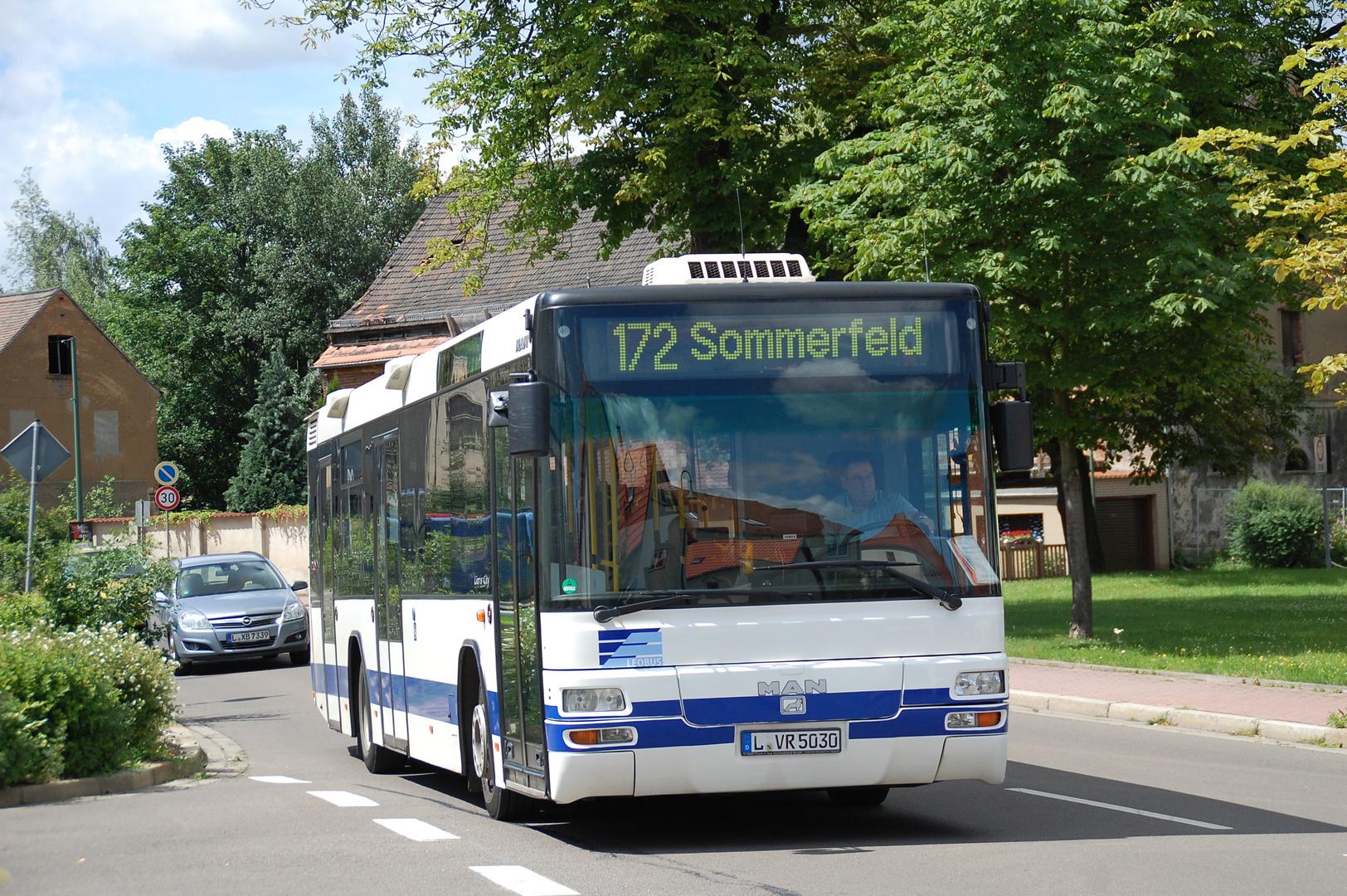 Leipzig MAN EL 283 auf Linie 172