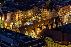 """Leipzig Markt, """"Altes Rathaus"""" bei Nacht"""