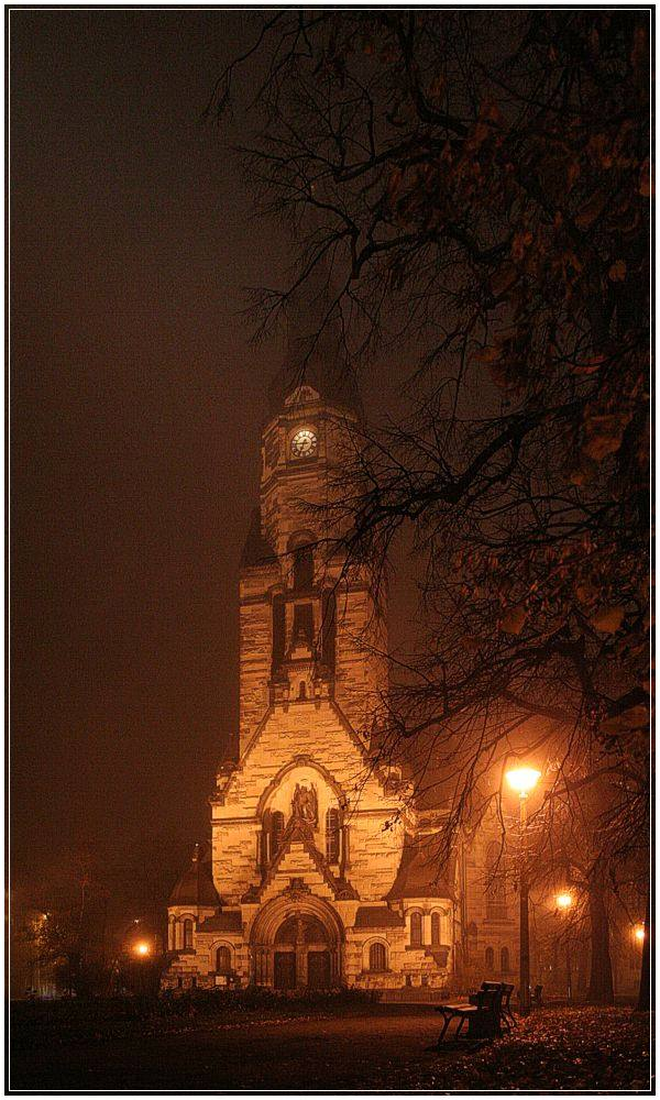 leipzig - nordkirche - dreiviertel sieben ... oder auch viertel vor sieben :)