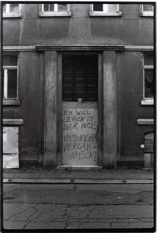 leipzig-plagwitz, hausbesetzer-graffiti