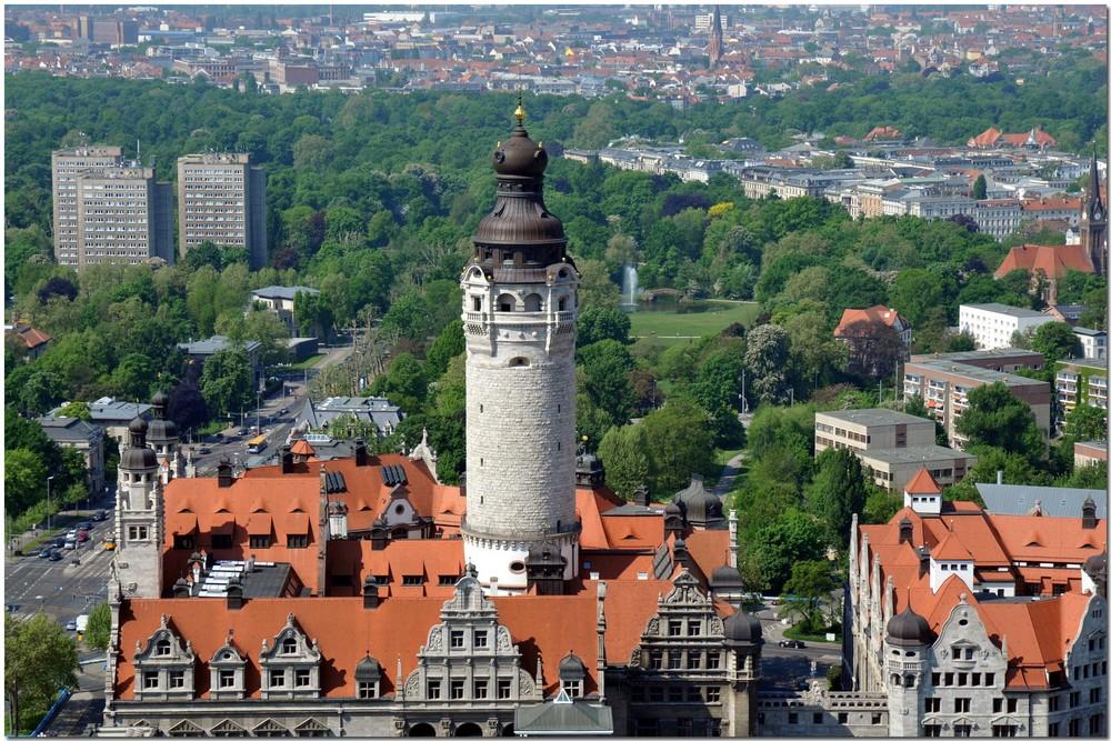 Leipzig von oben ... Neues Rathaus
