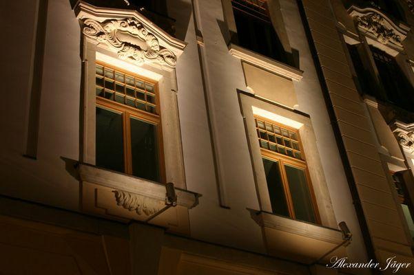 Leipziger Fenster bei Nacht