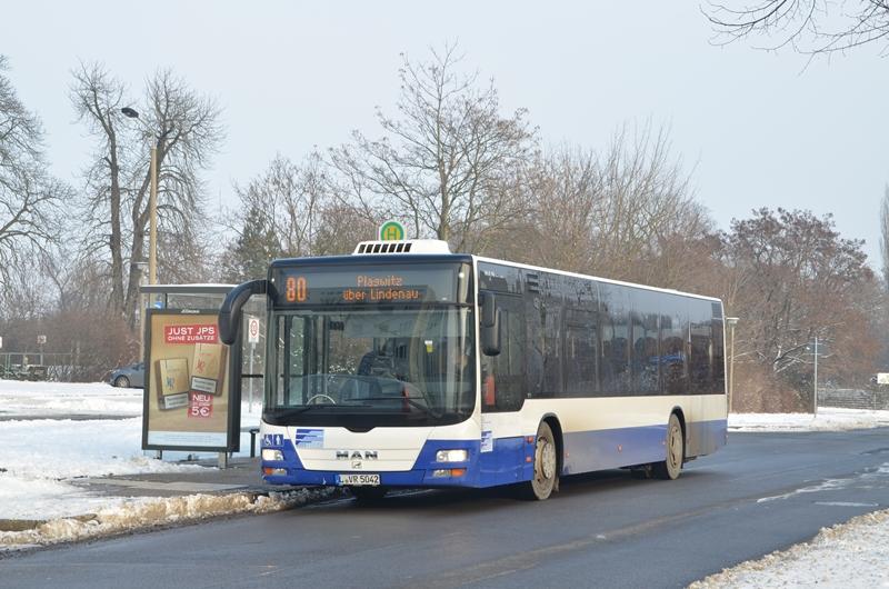 Leipziger MAN LionsCity auf der Linie 80 in Leipzig Thekla