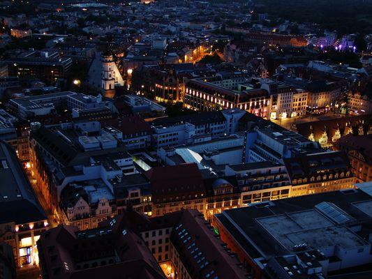 Leipziger-Zentrum bei Nacht